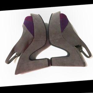 Madden Girl Banor Slingback Platform Peep Toe 8.5